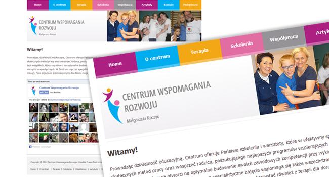Strona internetowa dla Centrum Wspomagania Rozwoju