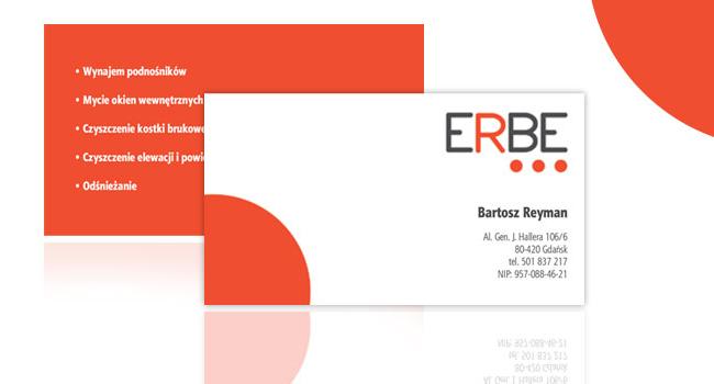 Logotyp i wizytówki dla ERBE