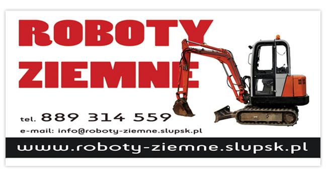 Tablica reklamowa dla roboty-ziemne.slupsk.pl