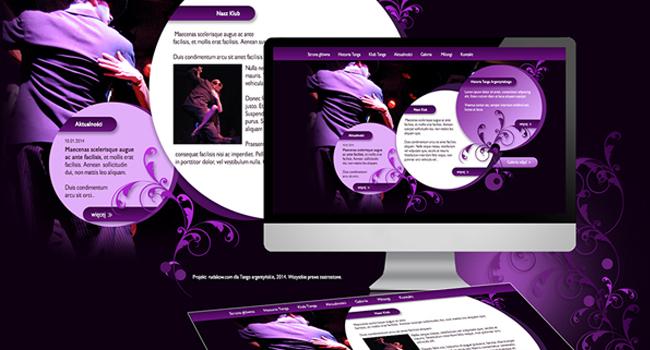 Strona internetowa szkoły tańca