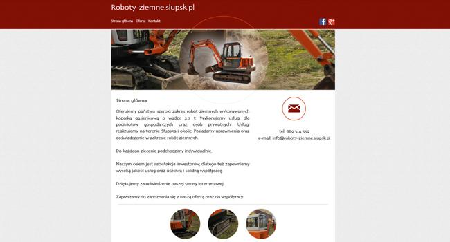 Projekt i wykonanie strony internetowej dla roboty-ziemne.slupsk.pl