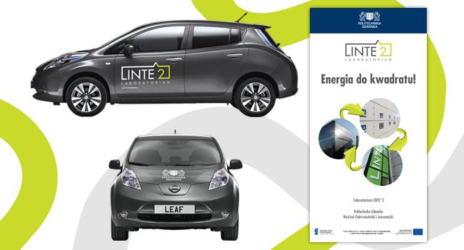 Projekt oklejenia samochodu i rollup dla Linte